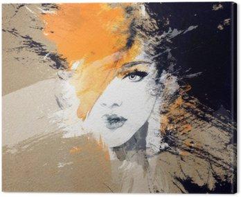Portret kobiety .abstract tle akwarela .fashion