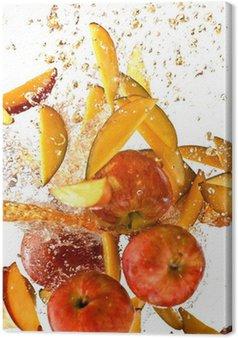 Obraz na Płótnie Powitalny świeżych jabłek i mango