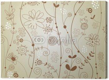 Obraz na Płótnie Powtarzalne kwiatowy wzór