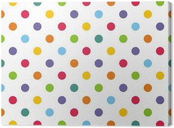 Obraz na Płótnie Powtarzalne wektor wzór lub tło z kolorowymi kropkami