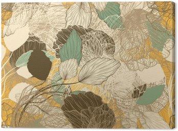 Obraz na Płótnie Powtarzalny streszczenie kwiatowy wzór