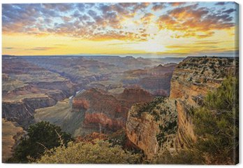 Obraz na Płótnie Poziome widok słynnego Wielkiego Kanionu o wschodzie słońca