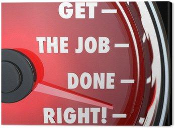 Obraz na Płótnie Prędkościomierz to zadanie Rights Osiągnij Misję