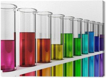 Obraz na Płótnie Probówki - rainbow - kolorowe - kolorowe