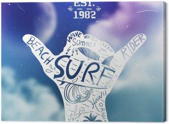 Obraz na Płótnie Projekt surfingu