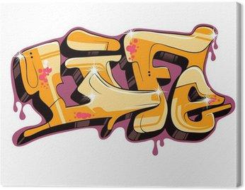 Obraz na Płótnie Projekt tekstu wektor graffiti,