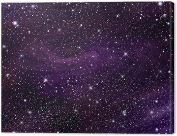 Obraz na Płótnie Przestrzeń galaktyki obrazu, ilustracja