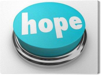 Obraz na Płótnie Przycisk Wiara nadzieja Słowo duchowość Religia