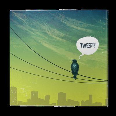 Obraz na Płótnie Ptak na drucie