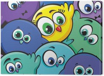Obraz na Płótnie Ptaki kreskówek