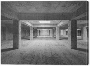Obraz na Płótnie Puste wnętrze ciemne abstrakcyjne przemysłowe beton. 3d illustratio