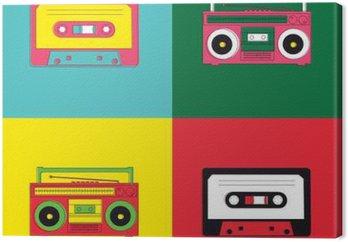 Obraz na Płótnie Radio kaseta sztuki pop