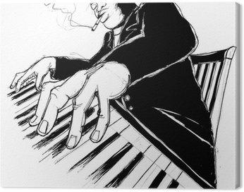 Obraz na Płótnie Ragtime pianista
