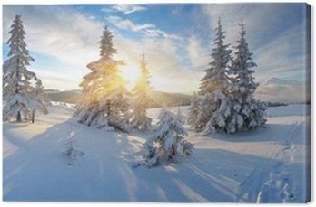 Obraz na Płótnie Rano panorama gór