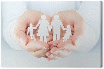 Obraz na Płótnie Ręce kobieta wyraża pojęcie rodziny