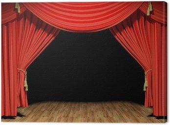Obraz na Płótnie Red Stage aksamitne zasłony teatr