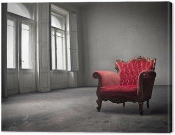 Obraz na Płótnie Red staroświeckie krzesło