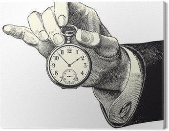 Obraz na Płótnie Ręka trzymająca zegarek