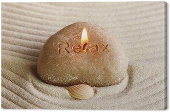 Obraz na Płótnie Relax - Zen Porozumienie z świeczką