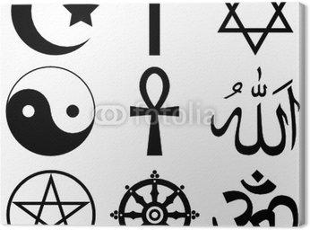 Obraz na Płótnie Religia, wiara - znaki