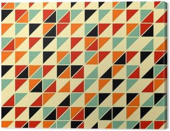 Obraz na Płótnie Retro abstrakcyjne powtarzalne z trójkątów