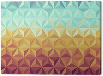 Obraz na Płótnie Retro biodrówki geometryczny wzór.