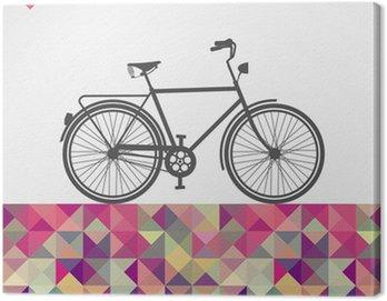 Obraz na Płótnie Retro biodrówki rowerowe elementy geometryczne.