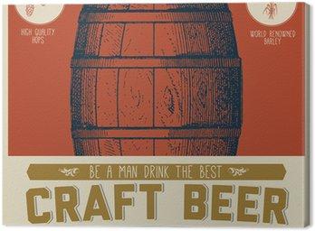 Obraz na Płótnie Retro Craft Beer Sign