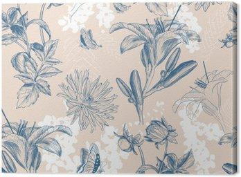 Obraz na Płótnie Retro ilustracji wektorowych kwiat