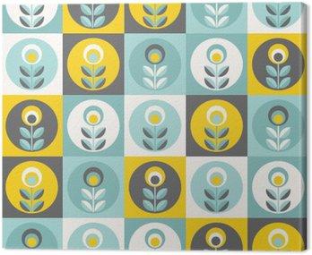 Retro kwiatowy wzór, bez szwu geometryczne kwiaty