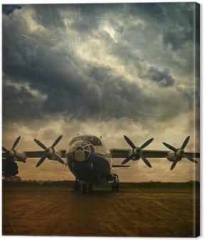 Obraz na Płótnie Retro lotnictwa, grunge
