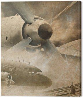 Retro lotnictwo, zabytkowe tło