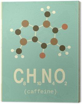 Obraz na Płótnie Retro Style Poster Caffeine