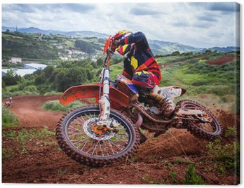 Obraz na Płótnie Rider motocross
