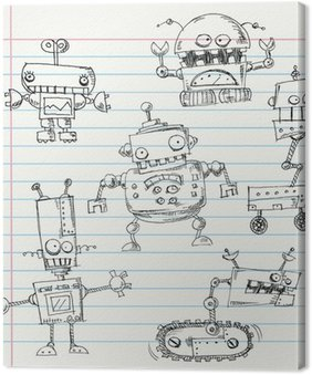 Obraz na Płótnie Robot doodles