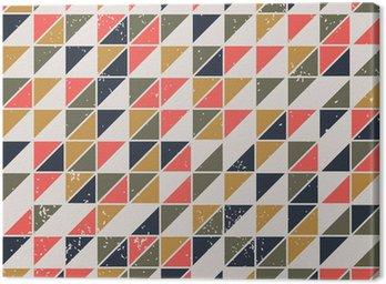 Obraz na Płótnie Rocznika Streszczenie powtarzalne z trójkątów