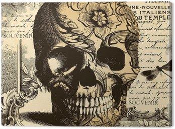 Rocznika tle czaszki