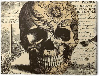 Obraz na Płótnie Rocznika tle czaszki