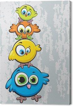 Obraz na Płótnie Rodzina ptaków