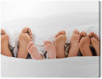 Obraz na Płótnie Rodzina w łóżku