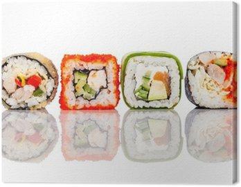 Obraz na Płótnie Roll Sushi na białym tle