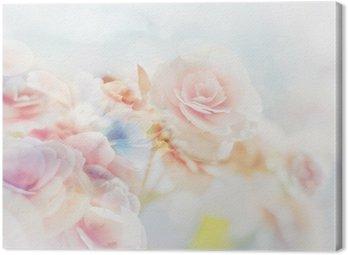 Obraz na Płótnie Romantic Roses w stylu vintage