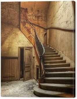 Obraz na Płótnie Rozkładających się schody w opuszczonym centralnego biura
