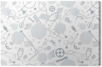 Obraz na Płótnie Różne sylwetki piłkarskich bezszwowe tło