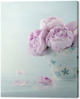 Obraz na Płótnie Różowe kwiaty piwonii