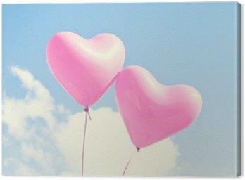 Obraz na Płótnie Różowe serce balony
