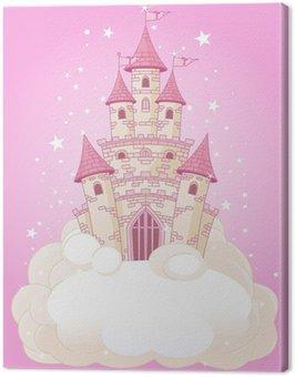 Obraz na Płótnie Różowy Sky Castle