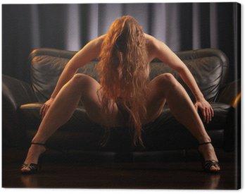 Obraz na Płótnie Rude nago na kanapie