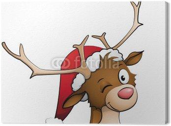 Obraz na Płótnie Rudolph czerwony renifer