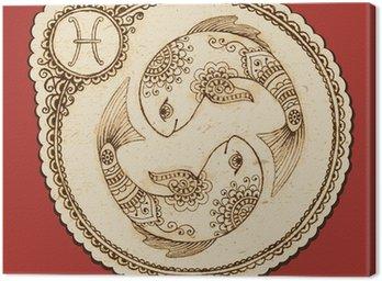 Obraz na Płótnie Ryby znak zodiaku